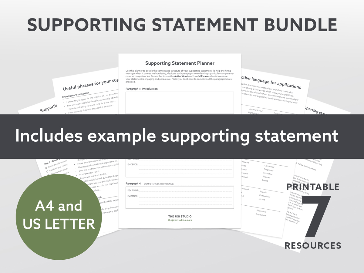 How to start a supporting statement